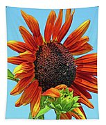 Red Sunflowers-adult And Child Tapestry