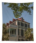 Red Tin Roof On Meeting Street Tapestry