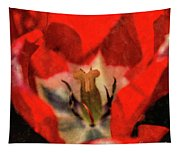 Red Tulip Texture Tapestry