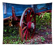 Red Wheel Tapestry