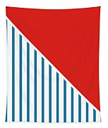 Red White And Blue Triangles 2 Tapestry by Linda Woods