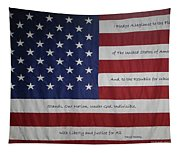 Red White And True Tapestry