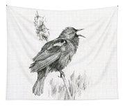 Red-winged Blackbird Tapestry