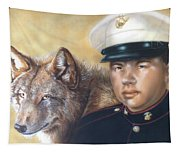Red Wolf Tapestry