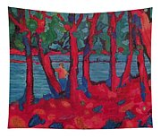 Red Woods Tapestry