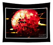 Red Zinnia Abstract Tapestry
