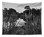 Redd's Pond Lupines Sunrise Black And White Tapestry