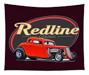 Redline Hot Rod Garage Tapestry