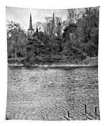 Reeds And Religion Black And White Tapestry
