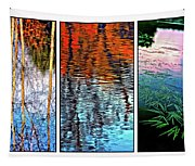 Reflecting On Autumn - Triptych Tapestry