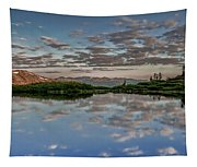 Reflection In A Mountain Pond Tapestry
