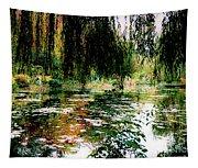 Reflection On Oscar - Claude Monet's Garden Pond Tapestry