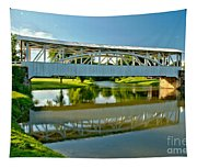 Reflections In Yellow Creek Tapestry