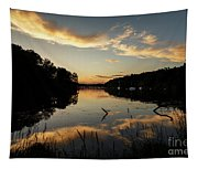 Reflections Of Sailboat Cove Tapestry