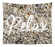 Relax Seashell Background Tapestry