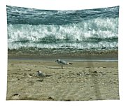 Relaxing By The Ocean Tapestry