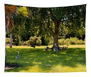 Relaxing In The Shade  Tapestry