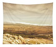Remote Roads And Foggy Coastlines Tapestry