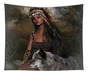 Rena Indian Warrior Princess Tapestry