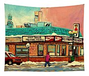 Restaurant Greenspot Deli Hotdogs Tapestry