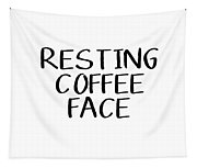 Resting Coffee Face-art By Linda Woods Tapestry