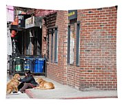 Resting On The Corner Tapestry