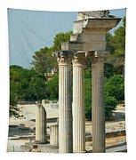 Restored Roman Columns In Glanum Tapestry