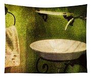 Retro Bathroom Grunge Tapestry