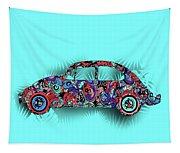 Retro Beetle Car 5 Tapestry