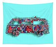 Retro Camper Van 3 Tapestry