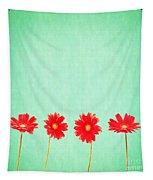Retro Flowers Tapestry
