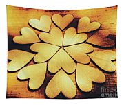 Retro Heart Connection Tapestry