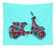 Retro Scooter 3 Tapestry