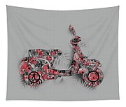 Retro Scooter 4 Tapestry