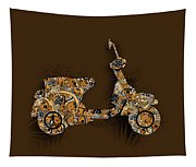 Retro Scooter 5 Tapestry