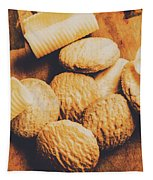 Retro Shortbread Biscuits In Old Kitchen Tapestry