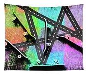 Retro Skaters Parade Tapestry