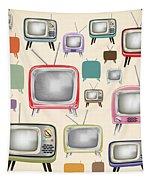 retro TV pattern  Tapestry by Setsiri Silapasuwanchai