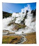Reykjadalur Geothermal Area In Iceland Tapestry