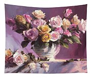 Rhapsody Of Roses Tapestry