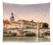 Bridge Over The Rhone River, France Tapestry