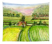 Ricefield Panorama Tapestry