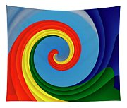 Ride The Wave - Colorful Digital Design Tapestry