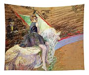 Rider On A White Horse Tapestry
