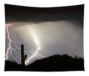 Ridin The  Southwest Desert Storm Out Tapestry