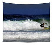 Riding The Waves At Asilomar State Beach Four Tapestry