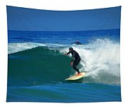 Riding The Waves At Asilomar State Beach Three Tapestry