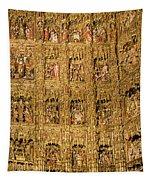 Right Half - The Golden Retablo Mayor - Cathedral Of Seville - Seville Spain Tapestry