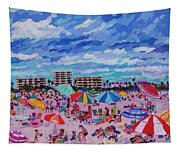 Right Panel Of Triptych Busy Relaxing Tapestry