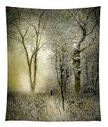 Rimy Forest Windy Daybreak By Laszlo Mednyanszky 1896 Tapestry